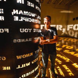 Ben at Lighted Column